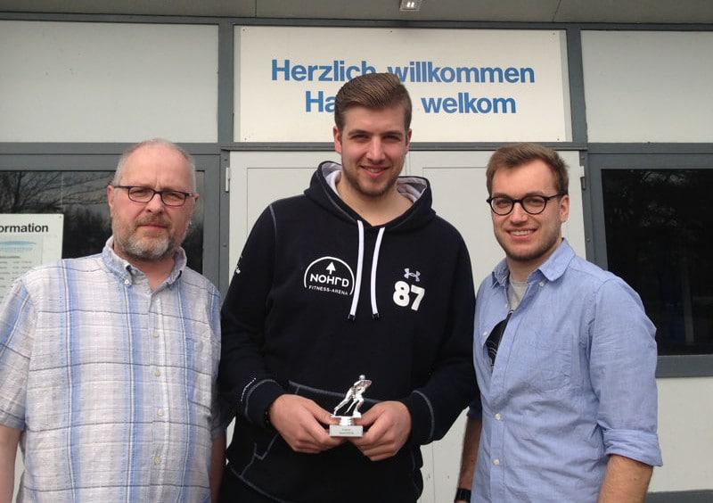 von links nach rechts: Olaf Schweizer, Patrick Kaminski und Sebastian Lindschulte. Foto: EC Nordhorn