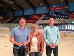 Der neue amtierende Vorstand. Von links: Dominik Kuprecht, Christiane Preuss und Rainer Kwant. Foto: EC Nordhorn