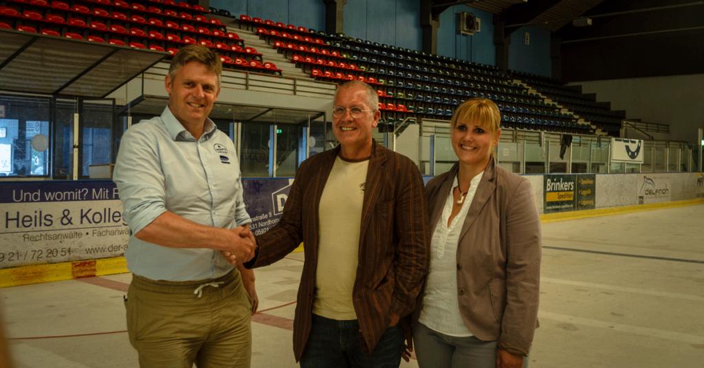 Dominik Kuprecht, Andris Bartkevics und Christiane Preuß. Foto: ECN